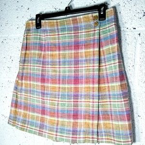 Norm Thompson Size 12 Plaid Skort / Shorts